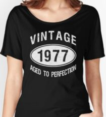 Vintage 1977 Birthday Women's Relaxed Fit T-Shirt