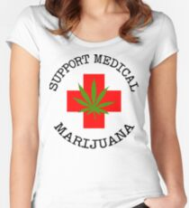 Support Medical Marijuana Women's Fitted Scoop T-Shirt