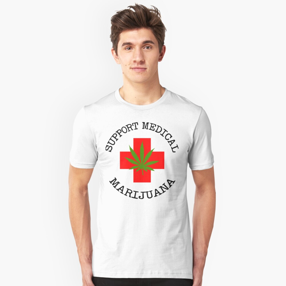 Support Medical Marijuana Unisex T-Shirt Front
