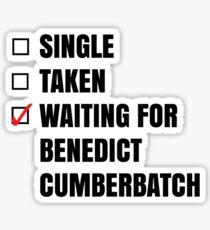 Waiting for Benedict C. Sticker Sticker