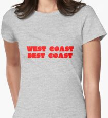 West Coast Best Coast Womens Fitted T-Shirt