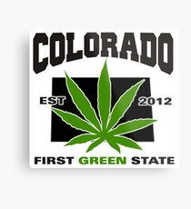 Colorado Marijuana Cannabis Weed T-Shirt Metal Print