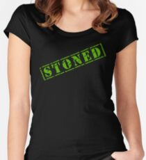 STONED Women's Fitted Scoop T-Shirt