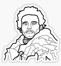 Robb Stark Outline Art Sticker