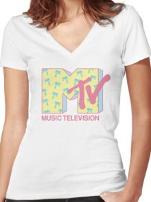 MTV 1980s Logo T-shirt for Women. S to 2XL