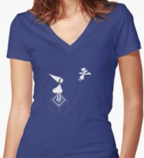 Monument Valley App Women's Fitted V-Neck T-Shirt