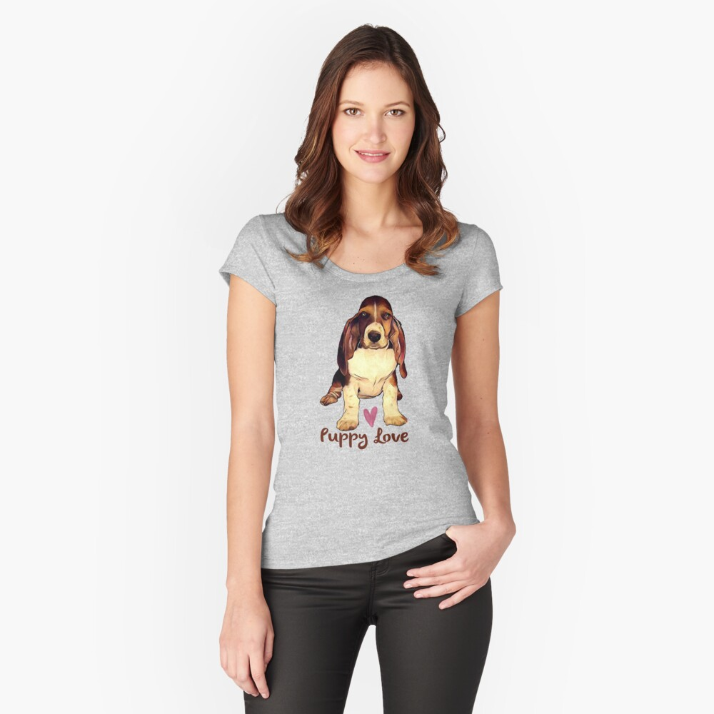 Puppy Love - Miss Emma Women's Fitted Scoop T-Shirt Front