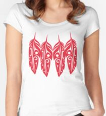 Four Red Feathers Women's Fitted Scoop T-Shirt