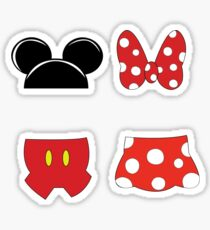 Mickey and Minnie Icons Sticker