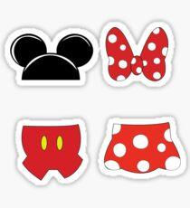Mickey and Minnie Icons Sticker