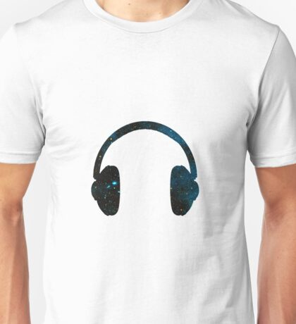Galaxy Headphones Unisex T-Shirt