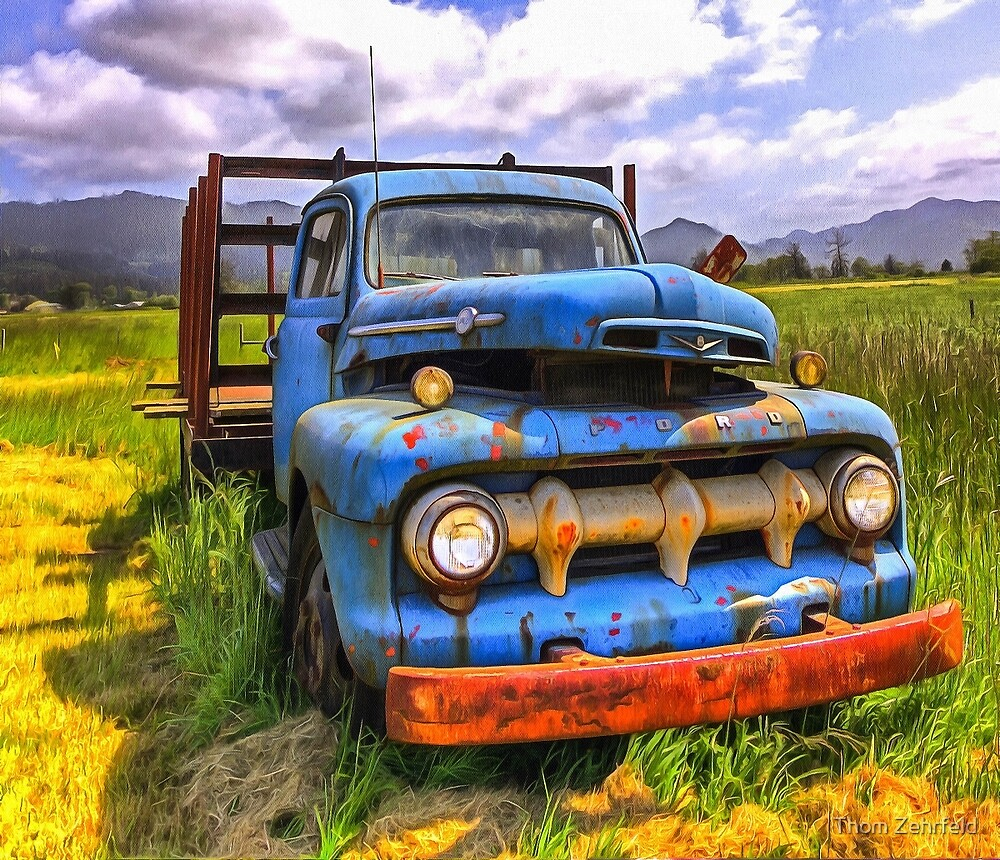 BLUE CLASSIC 48 to 52 FORD TRUCK by Thom Zehrfeld