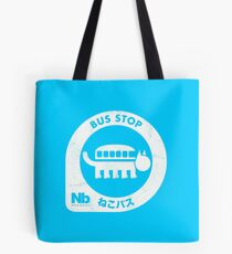 Neko Bus Stop Tote Bag