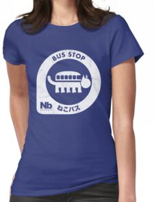 Neko Bus Stop Womens Fitted T-Shirt