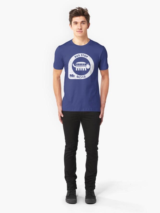 Alternate view of Neko Bus Stop Slim Fit T-Shirt