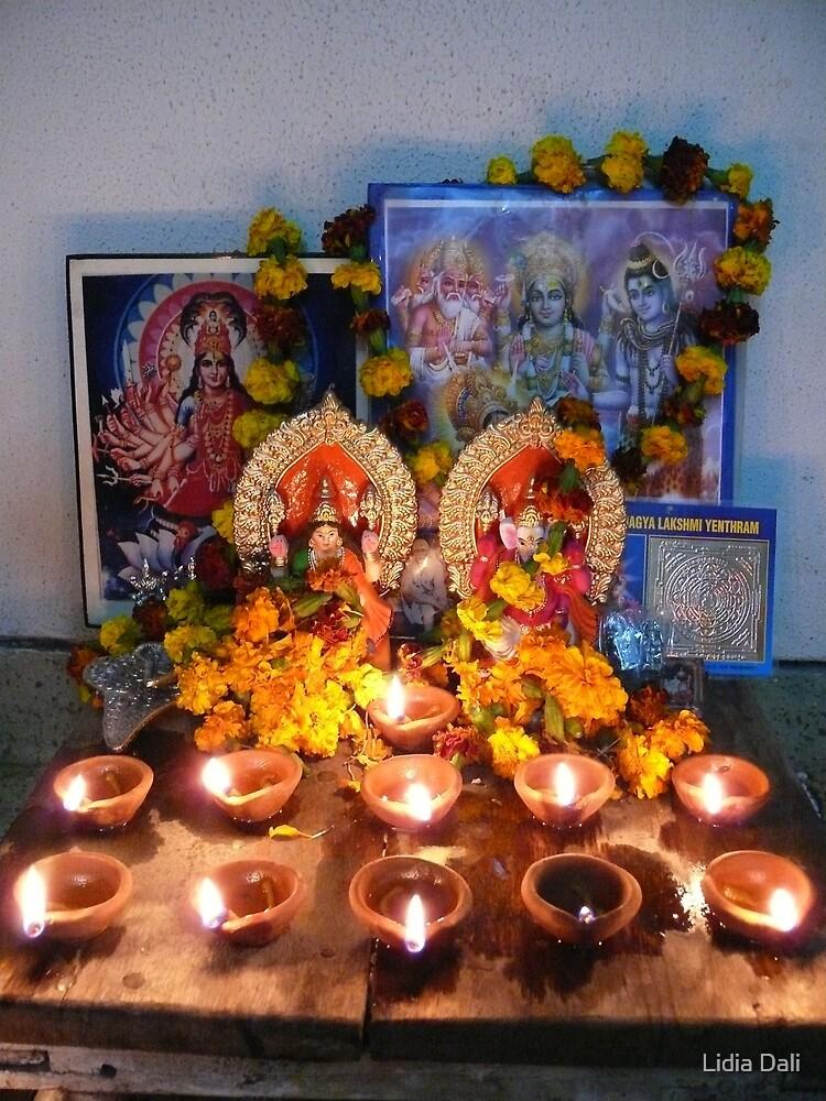 Diyas for Diwali Puja by Lidiya
