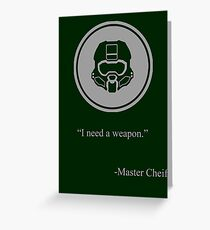 Gray Halo Master Chief Icon Greeting Card