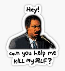 Saxophonist: Hey! Can you help me kill myself? Sticker