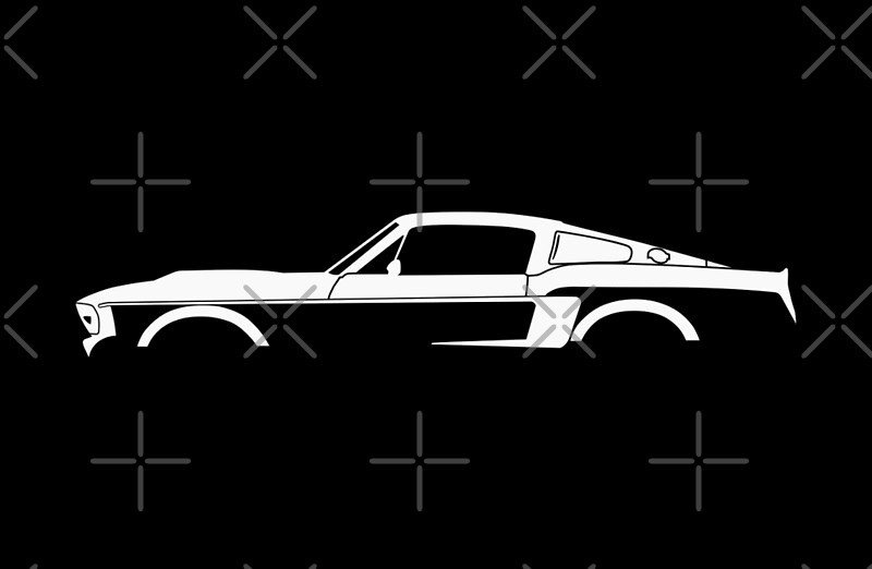 """Car silhouette for 1967 Shelby Mustang GT500 Eleanor ..."