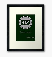 Gray Halo Master Chief Dog Tag Icon Framed Print