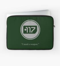 Gray Halo Master Chief Dog Tag Icon Laptop Sleeve
