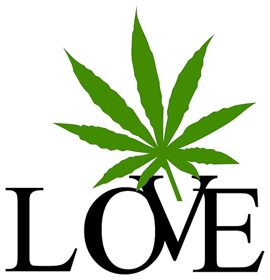 Love Marijuana Cannabis by MarijuanaTshirt