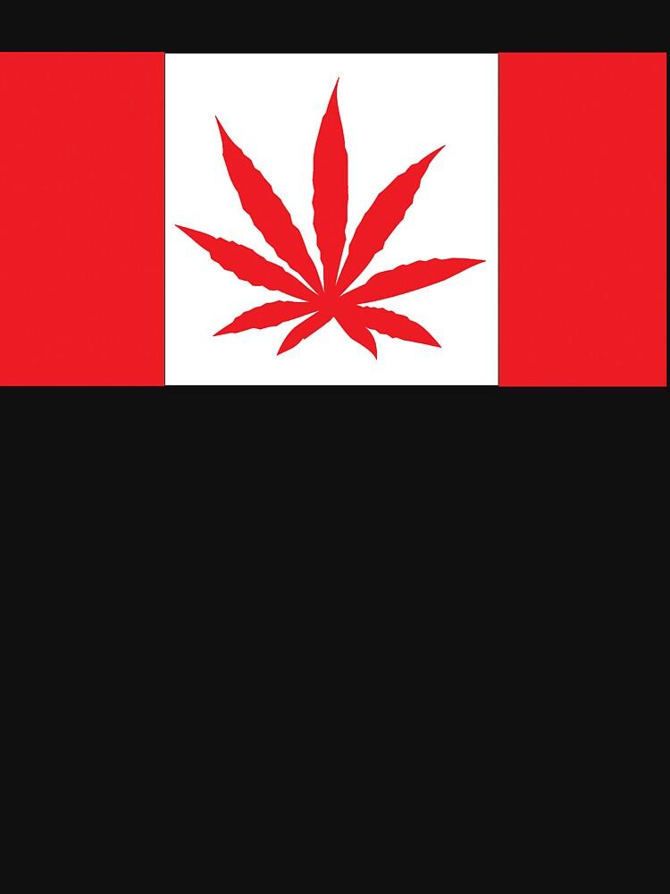 Canadian Flag Marijuana Leaf by MarijuanaTshirt