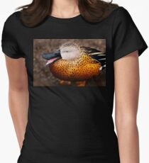 Red Shoveler Duck Canvas Print, Photographic Print, Art Print, Framed Print, Metal Print, Greeting Card, iPhone Case, Samsung Galaxy Case, iPad Case, Throw Pillow, Tote Bag, Womens Fitted T-Shirt