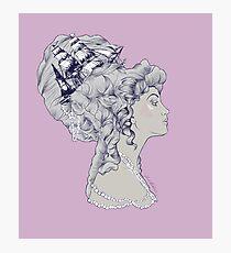 Marie Antoinette Rococo Ship hair Photographic Print