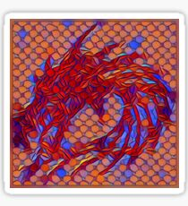 Dragon head in abstract and geometry  Sticker