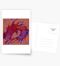 Dragon head in abstract and geometry  Postcards
