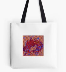 Dragon head in abstract and geometry  Tote Bag
