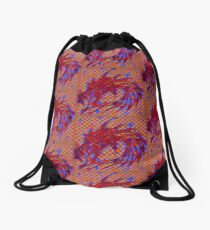 Dragon head in abstract and geometry  Drawstring Bag