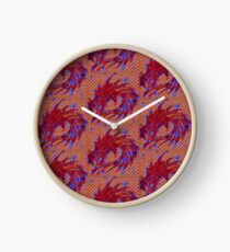 Dragon head in abstract and geometry  Clock