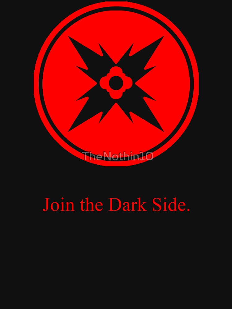 Dark Side Red Symbol Unisex T Shirt By Thenothin10 Redbubble