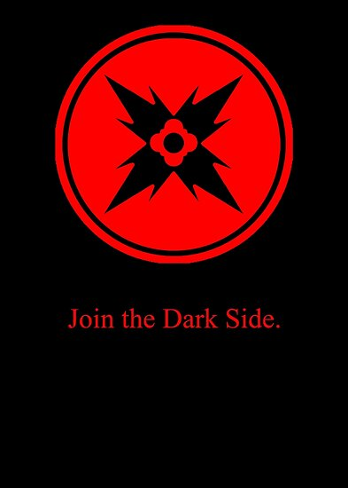 Dark Side Red Symbol Posters By Thenothin10 Redbubble