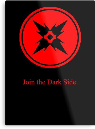 Dark Side Red Symbol Metal Prints By Thenothin10 Redbubble