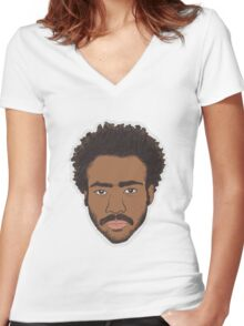 Childish Gambino (Donald Glover) - color Women's Fitted V-Neck T-Shirt