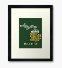 Drink Local (MI) Framed Print