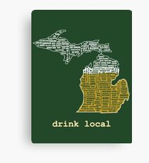 Drink Local (MI) Canvas Print