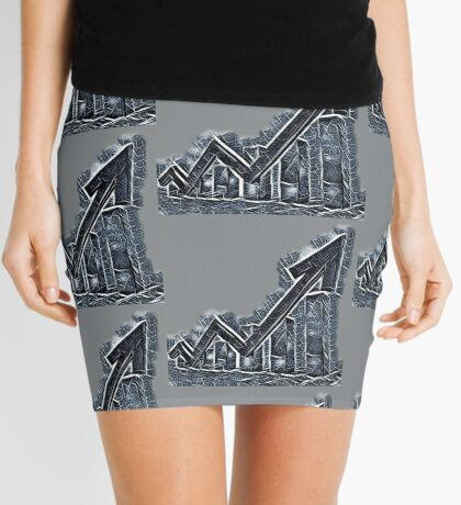 Slate moving up Mini Skirt