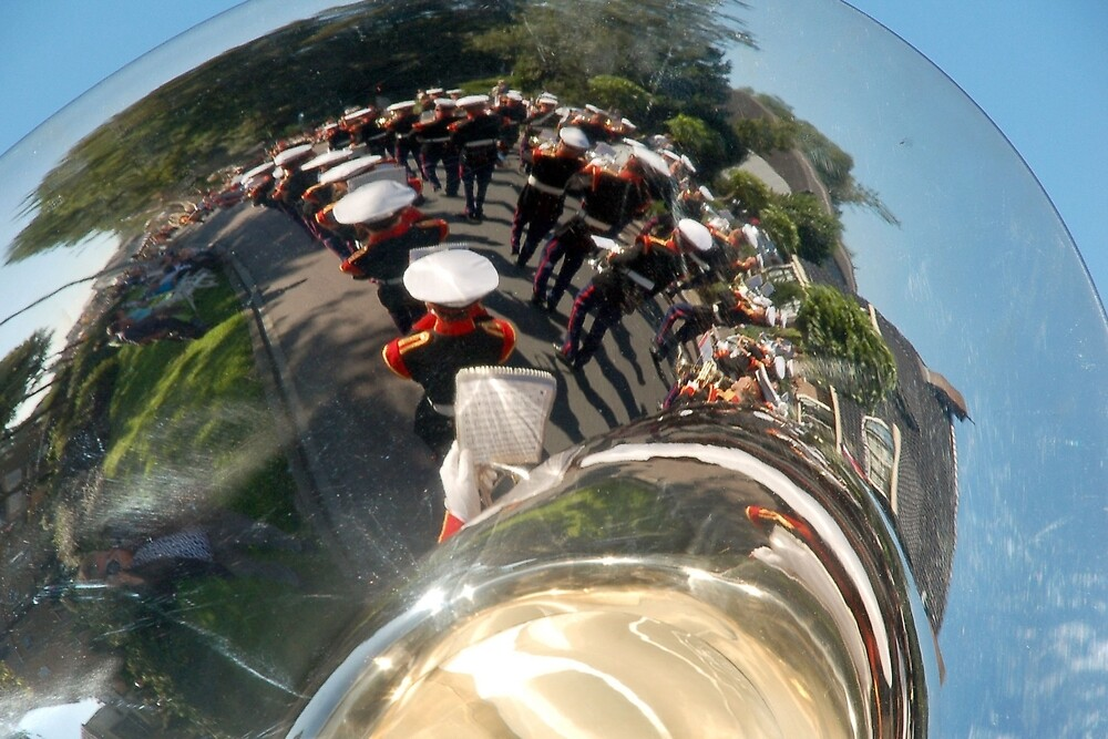 Reflections of a brass band by Arie Koene