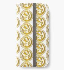 Gold circle dragon  iPhone Wallet/Case/Skin