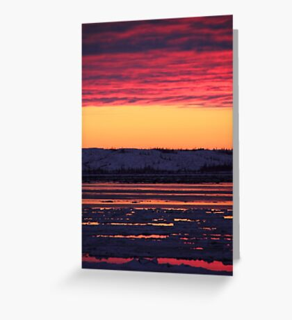 Sunset at Churchill, Canada Greeting Card