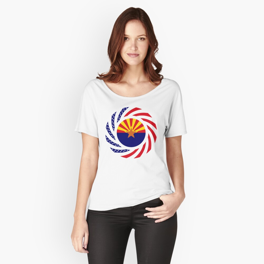 Arizonan Murican Patriot Flag Series Relaxed Fit T-Shirt