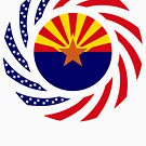 Arizonan Murican Patriot Flag Series by Carbon-Fibre Media