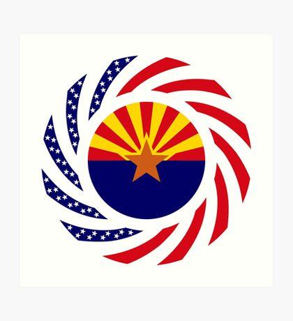 Arizonan Murican Patriot Flag Series Art Print