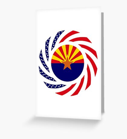 Arizonan Murican Patriot Flag Series Greeting Card