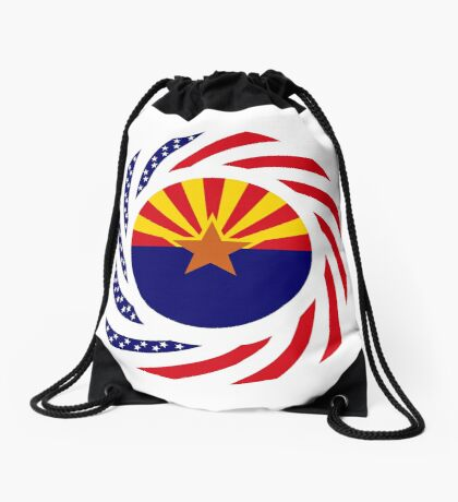 Arizonan Murican Patriot Flag Series Drawstring Bag