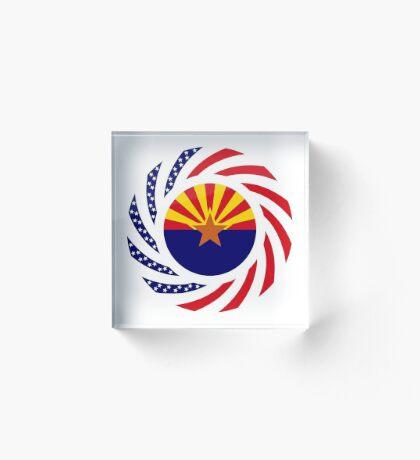 Arizonan Murican Patriot Flag Series Acrylic Block